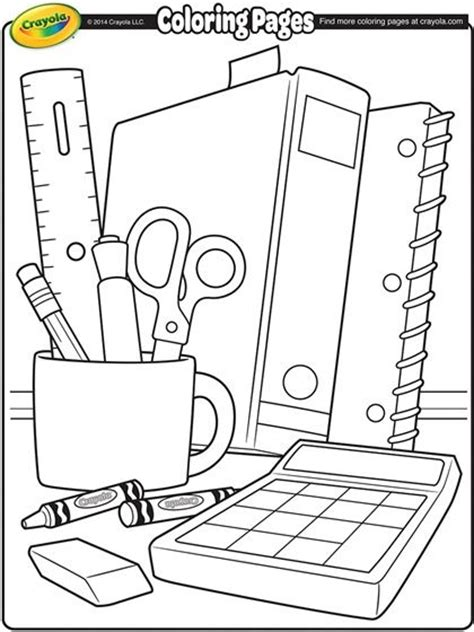 coloring page school things 25 best ideas about school coloring pages on pinterest