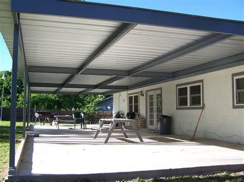 metal deck awnings monster custom metal awning patio cover universal city