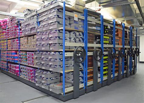 shoe storage shelving stockroom racking for shoes mobile shelving