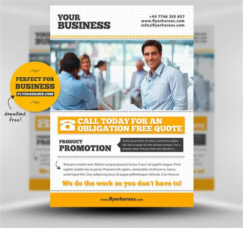 free psd business flyer templates 10 free adobe photoshop flyer templates