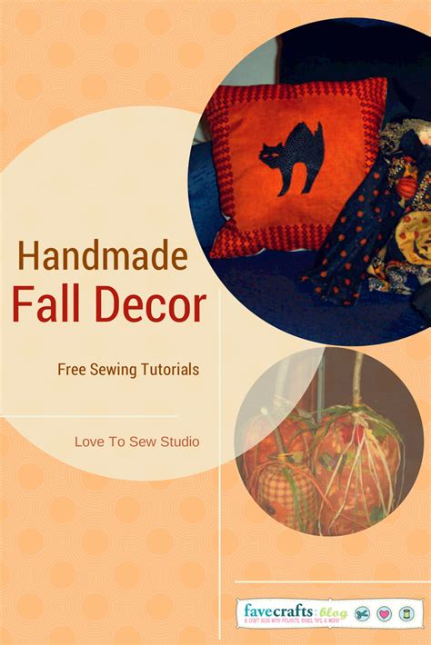 Handmade Fall Decorations - handmade fall decorations from to sew studio