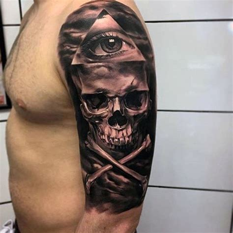 Top 100 Best Cool Tattoos For Guys Masculine Designs Skull And Bone Tattoos