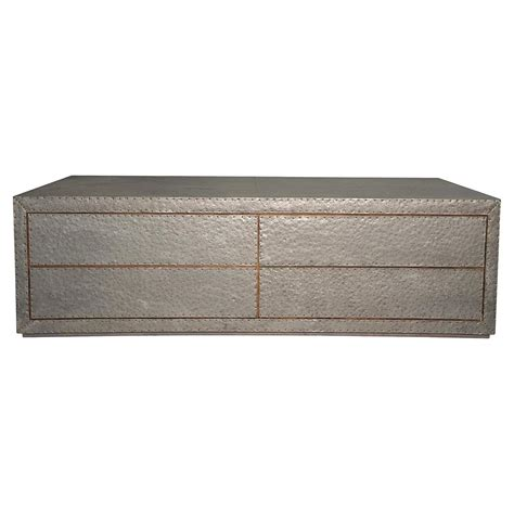 Hammered Metal Coffee Table Caldwell Industrial Masculine Hammered Metal Coffee Table Kathy Kuo Home