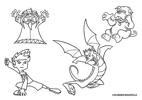free american dragon jake long coloring pages