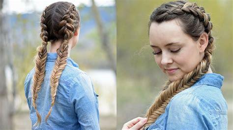 beautiful double dutch fishtails diy hair tutorials youtube