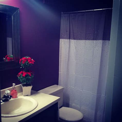 benjamin eggplant bathroom for the home
