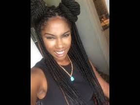 styling box braids youtube