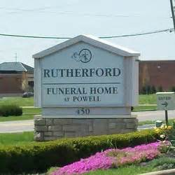 rutherford funeral home at powell powell oh yelp