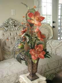 Orange Floor Vase Sale 40 Off Silk Flower Arrangement Orange Exotic In Tall