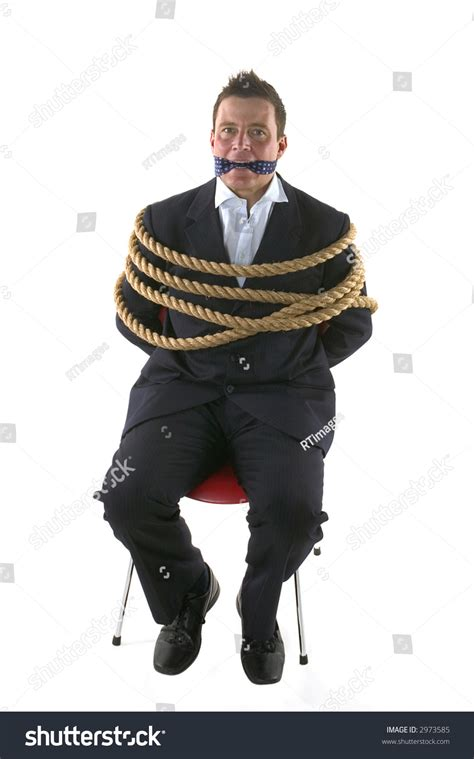 How To Tie A Person To A Chair by Businessman Rope Gagged His Own Stock Photo 2973585