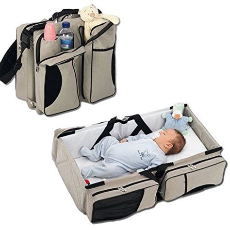 3 In 1 Baby Travel Bassinet Diaper Bag Change Changing Table Bag