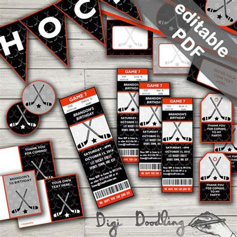 printable hockey decorations 1000 images about hockey birthday party on pinterest