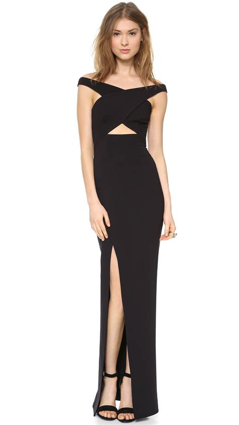 Crossover Dress nicholas event crossover maxi dress white in black lyst