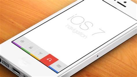 design app with gps flat ios7 navigation freebies gallery