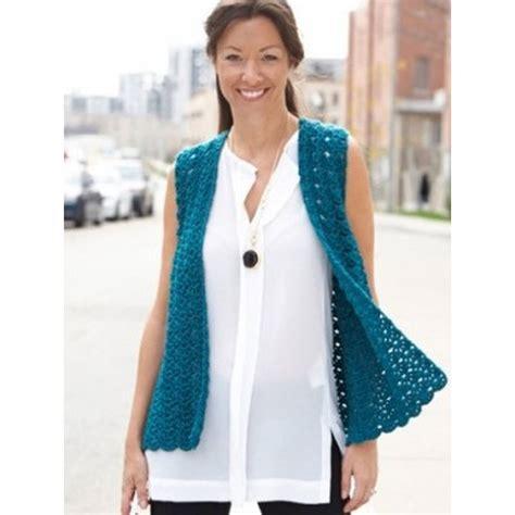pattern crochet waistcoat free pattern caron drapey crochet vest hobbycraft