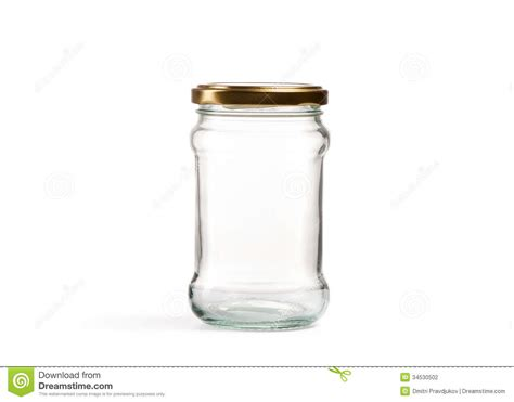Kitchen Utensil Canister Empty Glass Jar Over White Stock Photography Image 34530502