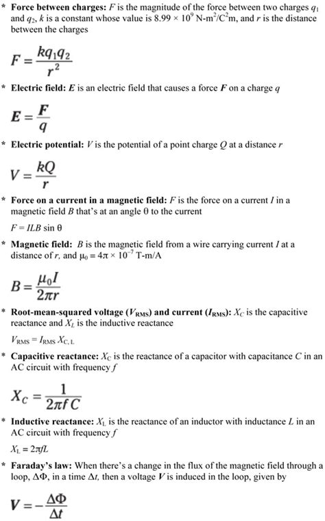 physics equations  electricity  magnetism dummies