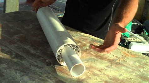 how to build a boat roller r diy huge underwater roller bearing pvc youtube