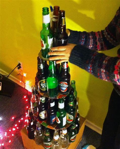 beer bottle christmas tree don t like traditional trees try out one of these 7 festive diy alternatives
