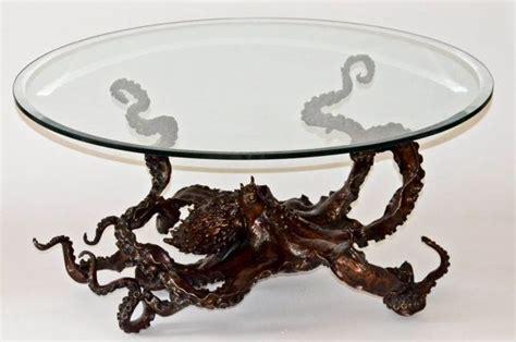 Bronze Octopus Coffee Table By Kirk Mcguire Sculpture Octopus Coffee Table