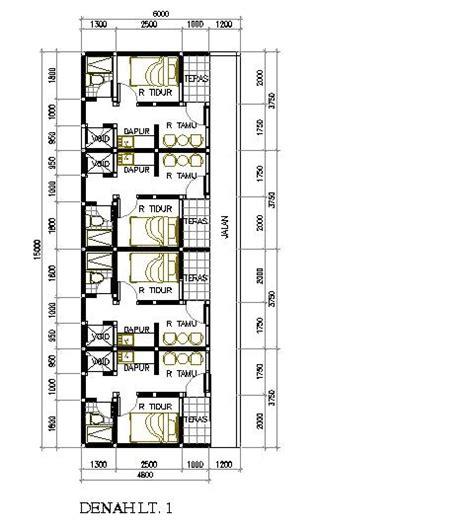 layout rumah petak desain rumah petak 6x15 m2