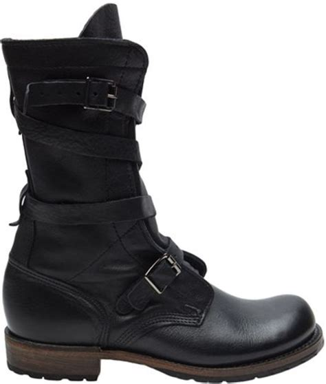 vintage shoe company tanker boot in black lyst