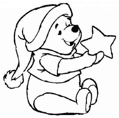 winnie the pooh con stella disegni da colorare e