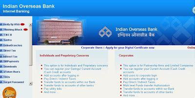 indian overseas bank mobile banking iob net banking indian overseas bank banking