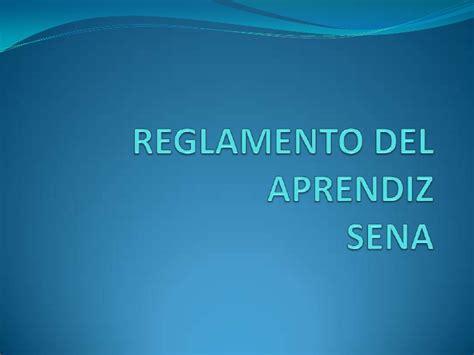 reglamento del aprendiz sena 2015 reglamento del aprendiz sena