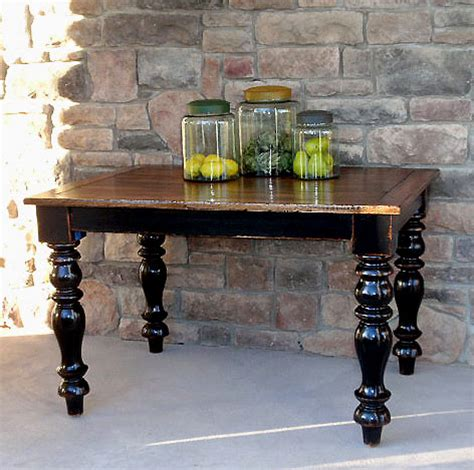 Black Distressed Kitchen Table Salvaged Wood And Farmhouse Table Hudson Goods