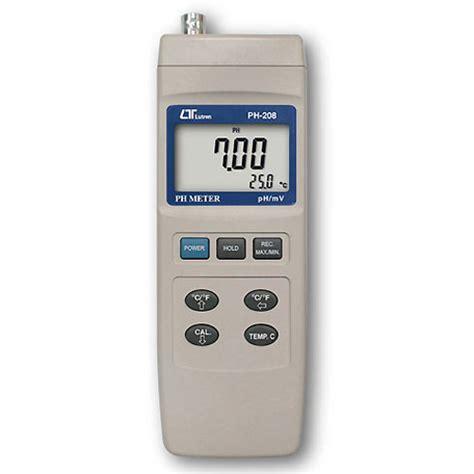 Lutron Ph 207 Ph Meter Alat Ukur Digital Akurat Akurasi Murah alat ukur kadar keasaman cairan meter digital