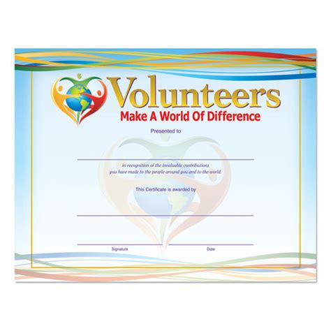 volunteer certificate of appreciation template volunteer appreciation certificate quotes