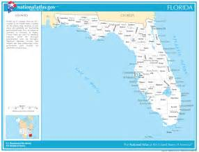 florida map with cities and counties
