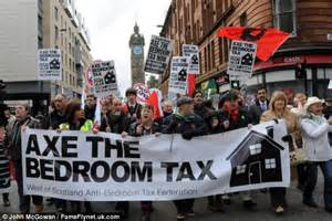 what is bedroom tax uk axe the bedroom tax thousands of protesters join