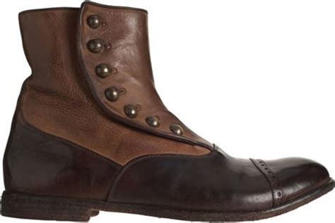 mens boot spats officine creative spats ankle boot in brown for lyst
