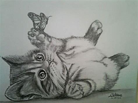 imagenes a lapiz de gatos dibujo gato a lapiz pinterest