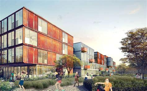 Container Haus Berlin by Un De Containers Pour Loger Les 233 Tudiants