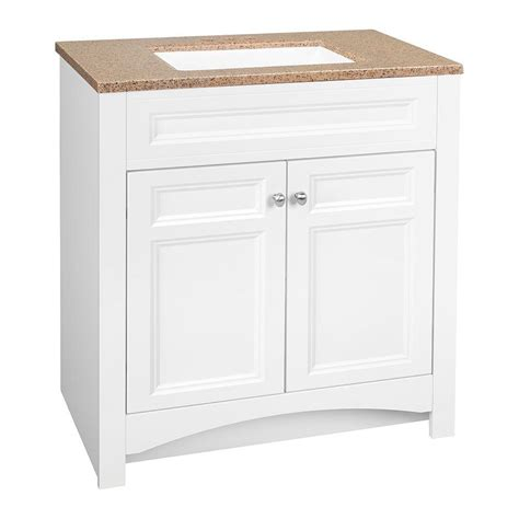 glacier bay vanity glacier bay modular 30 5 in w bath vanity in white with solid surface technology vanity top in