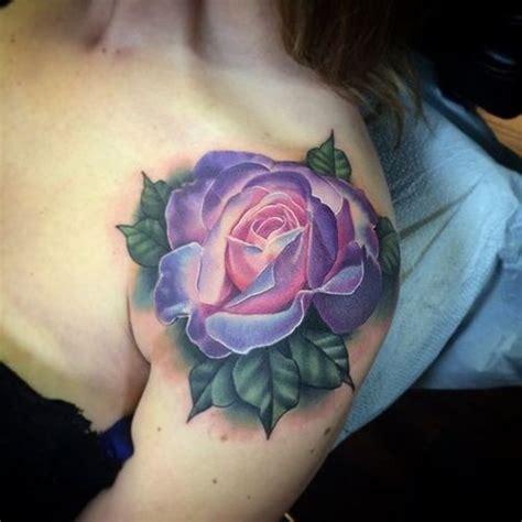 Top 40 Rose Tattoo On Shoulder For Girls Blue On Shoulder