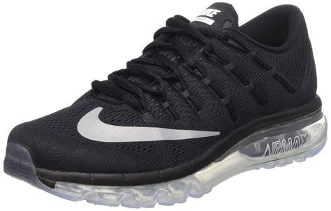 nike air max womens running shoes nike s air max 2016 black white running shoe 9