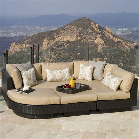 portofino outdoor furniture portofino comfort moda 4pc sectional in espresso contemporary outdoor sofas salt lake city