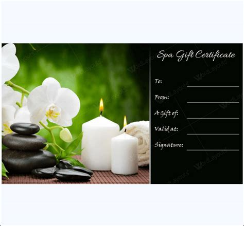 printable spa gift cards preview of spa day gift certificate template male models