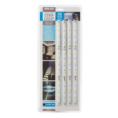 led light strips with battery pack arlec warm white led light 4 pack bunnings warehouse