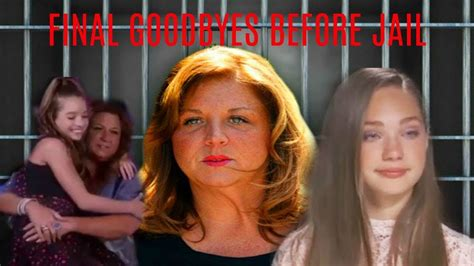 abby lee miller going to jail or coming back to work abby lee miller saying goodbye before going to jail the