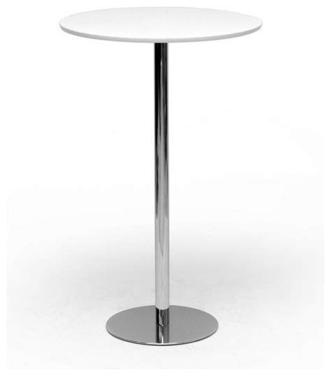 Plastic Bar Table White Plastic And Chrome Modern Commercial Grade Bar Table Contemporary Indoor Pub And