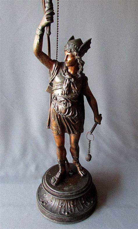 Spelter L by Antique Cast Metal Spelter Figural Table L Spartan