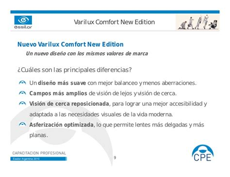 varilux comfort varilux comfort new edition mayo 2010