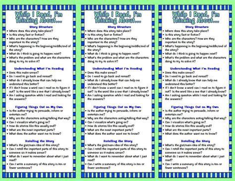 printable bookmarks reading strategies free printable reading prompt bookmarks reading