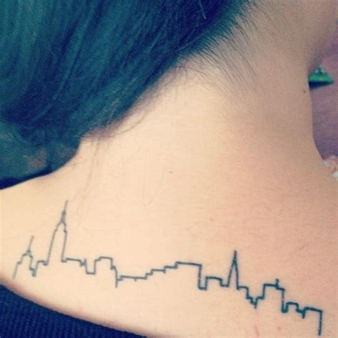 tattoo nyc skyline new york skyline tet pinterest