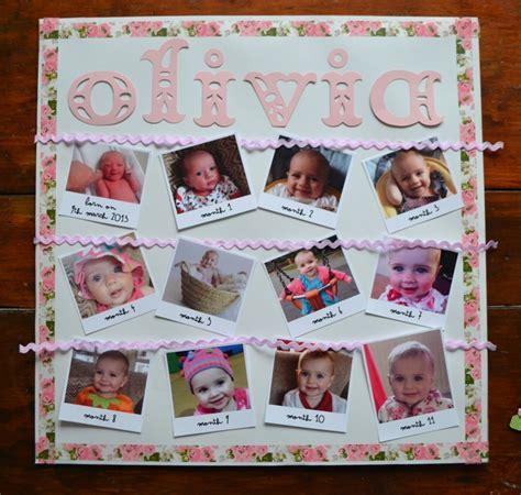 Handmade 1st Birthday Gifts - diy tutorial birthday monthly photo memory frame